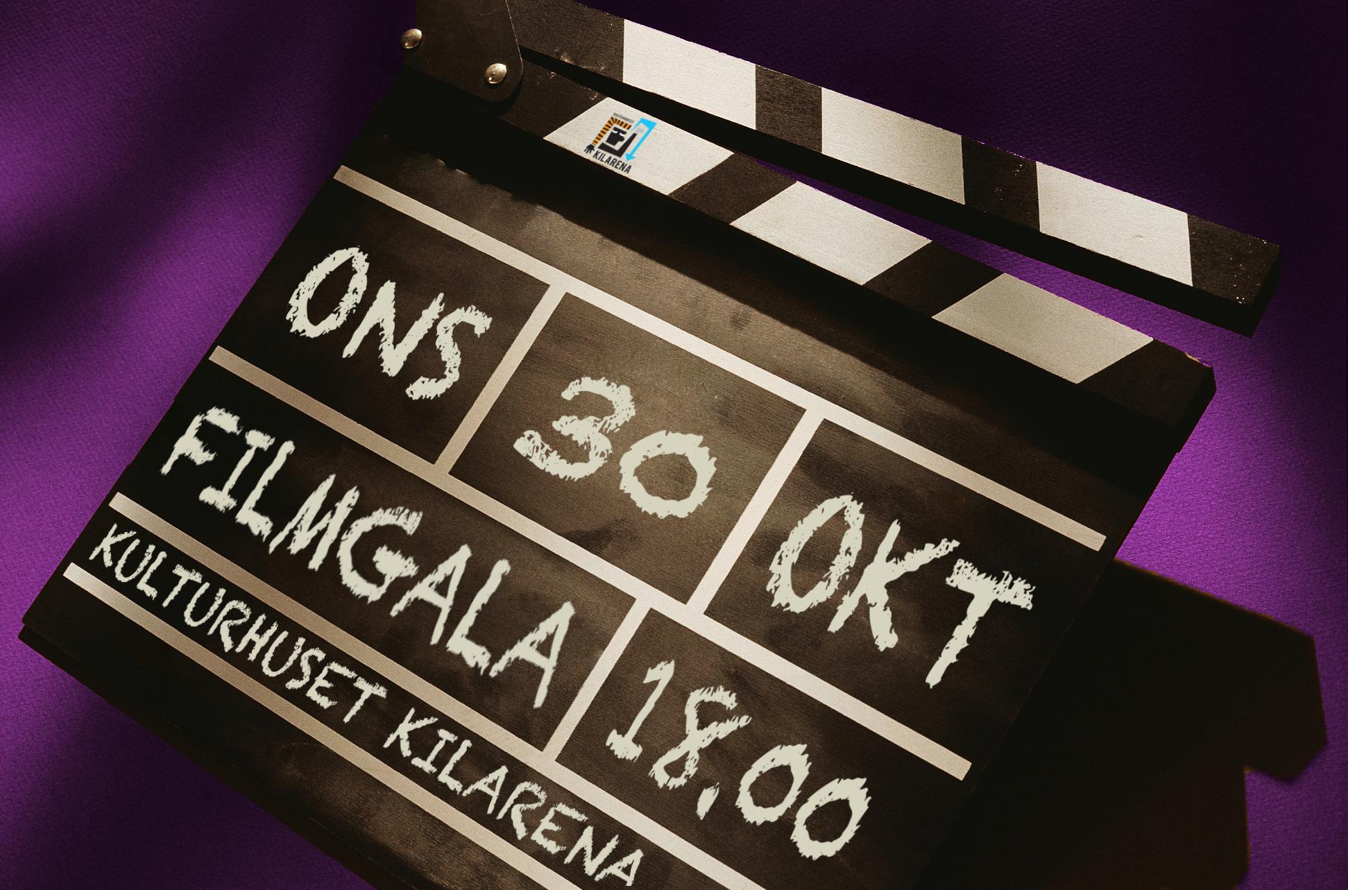Filmgala på Kulturhuset KilArena 30 okt 2019 kl. 18.00.